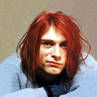 Kurt with red hair.