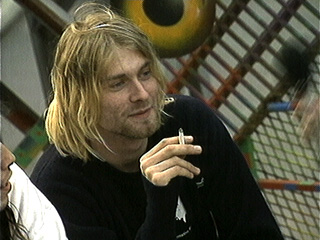 Kurt with a cigarette.