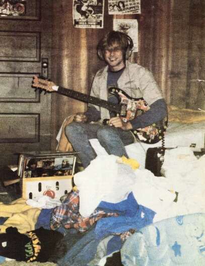 A young Kurt in his room.